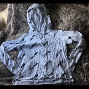 VICTORIA'S SECRET PINK HOODED SHIRT- NEW W/O TAGS